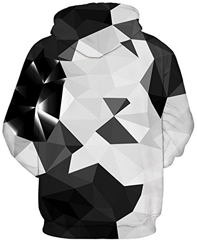 Pandolah Men's Patterns Print Athletic Sweaters Fashion Hoodies Sweatshirts (L/XL, Crystal-2)