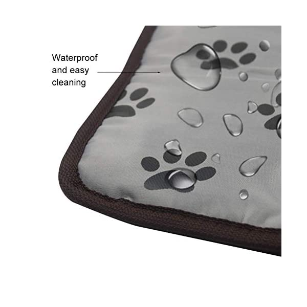 PUPTECK Pet Heating Pad - Dog Cat Electric Heated Pads - Waterproof & Chew Resistant Mat for Indoor Grey 3
