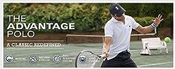 IZOD Men\'s Advantage Performance Slim Pique Polo Shirt, Blue Revival, Large