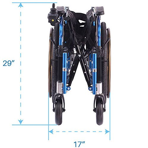 Lightweight Dual Function Foldable Power Wheelchair (Polymer