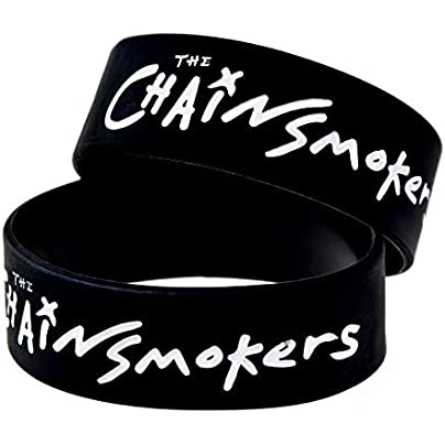 Relddd Silicone Bracelets With Sayings The Chain Smokers Rubber Wristbands For Adults And Kids Encouragement Set Pieces Estimated Price £26.99 -
