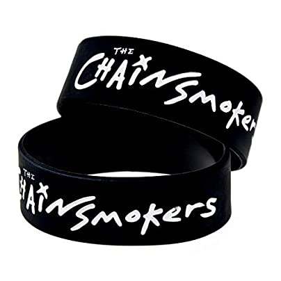 CWLLWC Silicone Bracelet Silicone Bracelets with Sayings The Chain Smokers Rubber Wristbands for Adults and Kids Encouragement Set Pieces Estimated Price £27.99 -