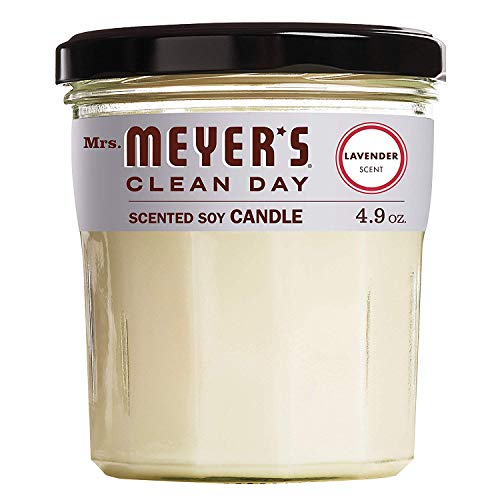 Mrs. Meyer's Clean Day Scented Soy Candle, Lavender, Candle, 4.9 Ounce (Fоur Paсk)