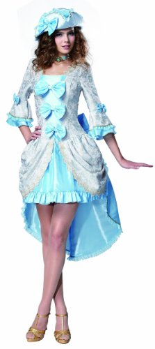 [HGM Costume Women's Versailles Vixen, Baby Blue/White, Large] (Hgm Costume)