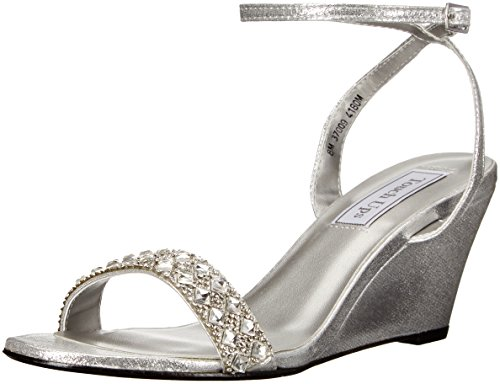 Touch Ups Women's Carter Wedge Sandal, Silver, 9.5 M US