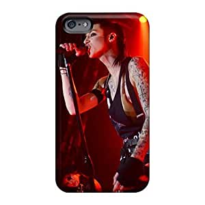 Shock Absorption Hard Phone Covers For Iphone 6 With Allow Personal Design Trendy Black Veil Brides Band BVB Image KevinCormack