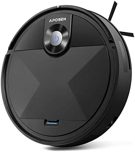 Robot Vacuum, APOSEN Robot Vacuum Cleaner A200, Self-Charging, Smart Move Path, 360° Smart Sensor Protection, Long Life Battery, Robotic Vacuum Best for Pet Hairs, Hard Floor, Low Pile Carpet and so on.