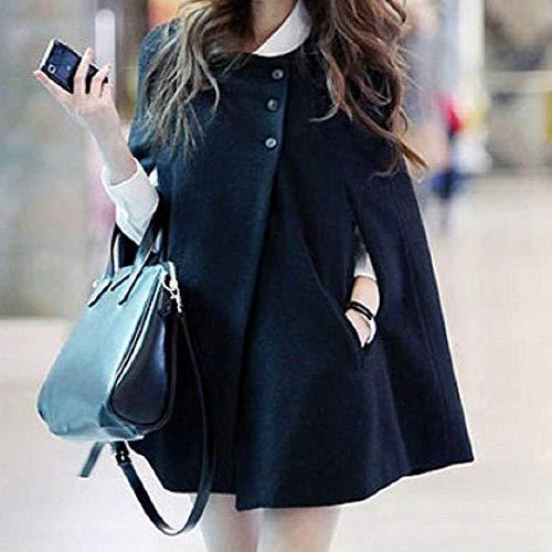 longue veste Zhrui d'hiver solide Parkas bouton manteau noir taille vent large survêtement Outwear femme Xxx couleur taille coupe Ladies mode grande écharpe SaSq0F
