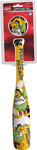 Jarden Sports Licensing MLB Pittsburgh Pirates Kids Mini Softee Bat & Ball Set, Small, Black