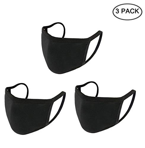Yoodelife Anti-dust Black Mouth Mask, Unisex Cotton Face Mask Muffle Mask Anime Mask for Cycling Travel Outdoors for…