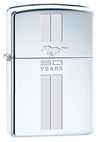 zippo-lighter-ford-mustang-50th-anniversary-high-polish-chrome-chrome-stripes