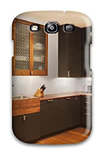 Premium Kitchen Cabinets With Hand-cut Aluminum Screens Back Cover Snap On Case For Galaxy S3