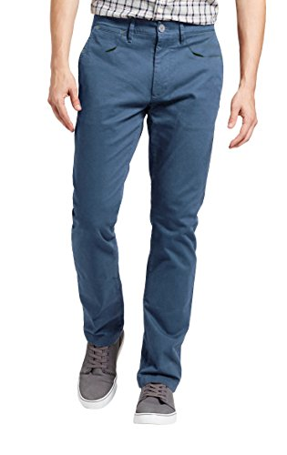 Dolcevida Men's Flex Straight Leg Classic Casual Color Jeans (46, Blue)