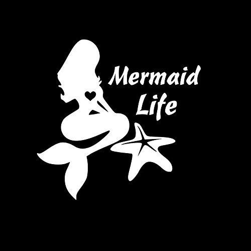 Mermaid Life Starfish Decal Vinyl Sticker Cars Trucks Vans Walls Laptop  White  5.5 x 5.5 in LLI250 (Easy Mermaid Costume)
