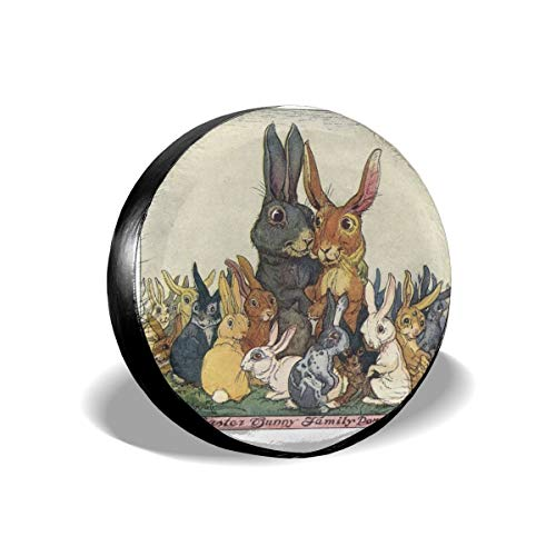 - All agree Spare Tire Cover Easter Bunny with Family Wheel Covers Universal Tires Protectors 17 inch