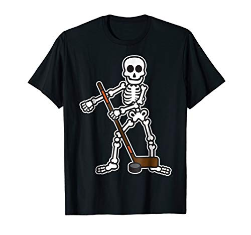 Flossing Skeleton Hockey Player Halloween Costume Shirt]()
