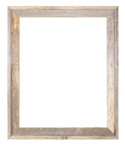 amazoncom 18x24 2 wide signature reclaimed rustic barnwood open frame no glass or back professional art frame kits - Wooden Frames Hobby Lobby