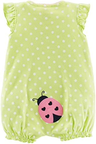 Simple Joys by Carter's Baby Girls' 3-Pack Snap-up Rompers