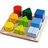 HABA Perfect Pairs - Chunky 18 Piece Wooden Sorting Game - Which Two Halves Make a Whole? Ages 2+