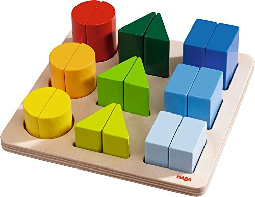 - HABA Perfect Pairs - Chunky 18 Piece Wooden Sorting Game - Which Two Halves Make a Whole? Ages 2+