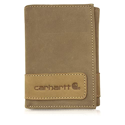 (Carhartt Men's Trifold Wallet, Two Tone Brown, One Size )