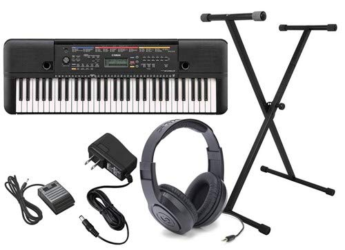 Yamaha PSR-E263 Ultra Premium Keyboard Package with Headphones,Stand,Sustain Pedal,and Power Supply ()