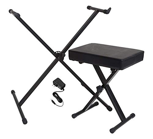 (Yamaha Portable Keyboard Accessory Pack with Stand, Bench and Power Supply)