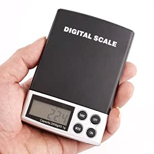 Digital Scale 2000g/0.1g Jewelry Gold Silver Grain Coin Gram Pocket Size Balance