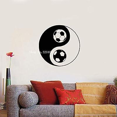 zxddzl Diseño calcomanías de Vinilo Yin Yang símbolo fútbol ...