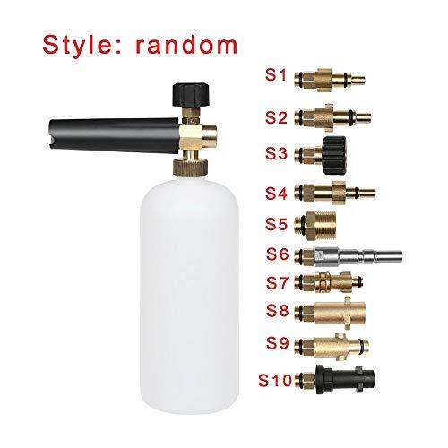 Manakayla Foam Lance Pressure Washer Soap Bottle Gun for Karcher Bosch Lavor Nilfisk Kit White S4