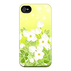 VLX7558WzfD Tpu Case Skin Protector For Iphone 4/4s Dainty In Green With Nice Appearance
