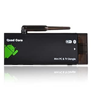 Vality CX-919 Quad Core RK3188 Bluetooth Android 4.1.1 Mini Google PC TV Box 1G/8G BT/HDMI, Black