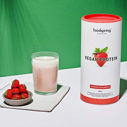 foodspring Proteínas Vegetales, Fresa, 600g, 100% proteína vegetal, Fabricada en Alemania: Amazon.es: Salud y cuidado personal