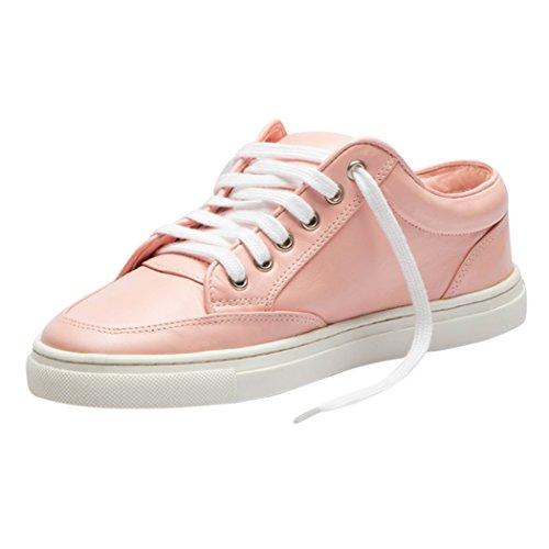 Mode TD002 Confortable TEDISH Dames Amorette Lacets de Loisirs Pink Chaussures Cuir Femme Baskets Outdoor Marche Plat wOEq7gUxOn