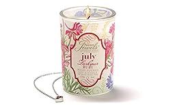 Secret Jewels July Birthstone 6 Oz. Candle Jar, Larkspur Scent, Ruby