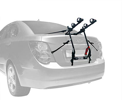 Tyger Auto TG-RK2B202B Deluxe Black 2-Bike Trunk Mount Bicycle Carrier Rack. (Fits Most Sedans/Hatchbacks/Minivans and SUVs.) ()