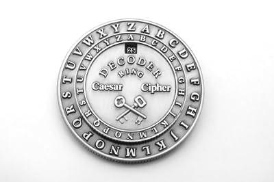 Retroworks Classic Caesar Cipher Medallion Decoder Ring