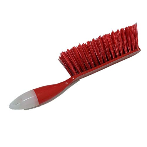 Brush Dust Sweeper Plastic Big Hand Soft Railing Polished Wooden Clean Fireplace Sweep Soft Sense Natural Cocoa and Hardwood Handle,Red ()