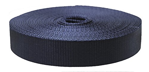Strapworks Colored Flat Nylon Webbing - Strap for Arts and Crafts, Dog Leashes, Outdoor Activities - 1.5 Inches x 10 Yards, Navy Blue
