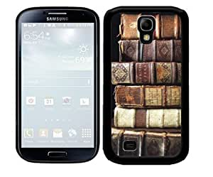 Ancient Old Brown Literature Books Stacked Up 2-Piece Dual Layer High Impact Black Silicone Cell Phone Case Cover Samsung Galaxy S4 I9500