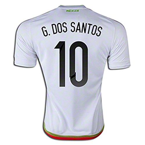故障中パーチナシティ天気ADIDAS G. DOS SANTOS #10 MEXICO AWAY SOCCER JERSEY 2015-16/サッカーユニフォーム メキシコ アウェイ用 G. ドス?サントス 背番号10 2015-16