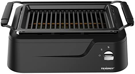 Tenergy Redigrill Smoke-Less Infrared Grill, Indoor Grill, Heating Electric Tabletop Grill, Non-Stick Easy to Clean BBQ Grill, for Party Home, ETL Certified