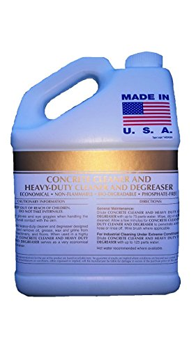 Patriot Chemical Sales Four 1 Gallon Concrete Cleaner Degreaser Heavy-duty Industrial Strength Concentrate by Patriot Chemical Sales
