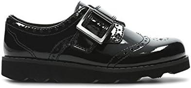 Clarks , Chaussures de Ville à Lacets pour Fille Noir Noir - Noir - Noir, 29F EU