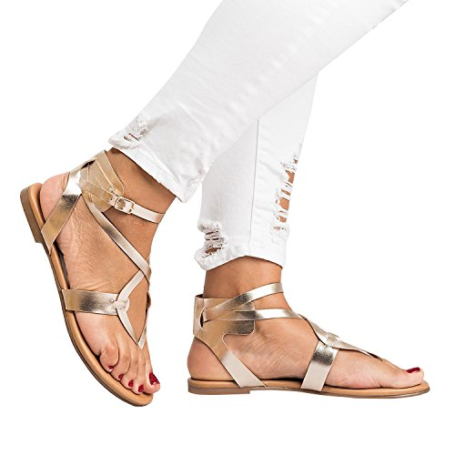 Flat Summer Sandals For Women palm leaf with support wide width feet - Womens Sandals Silver