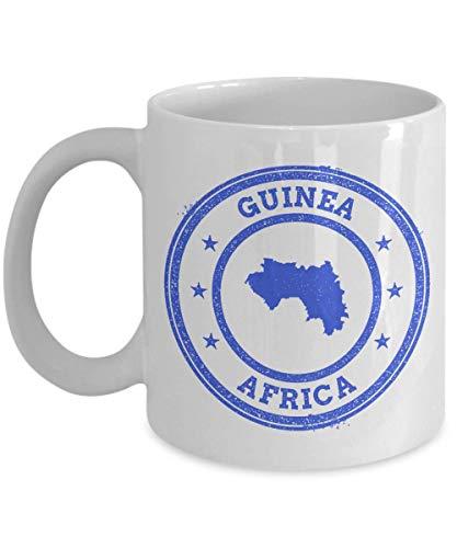 Guinea stamp passport Africa novelty gift idea holiday for women men wife husband coworker friend birthday coffee mug 11 oz