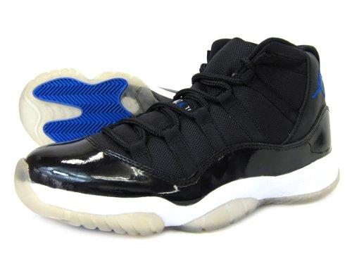 [ナイキ] AIR JORDAN 11 RETRO SPACE JAM BLACK/BLUE B008S0UHX4  28.0 cm