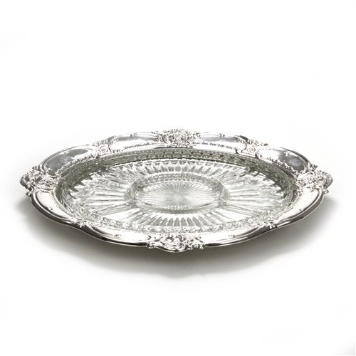 (Relish Dish by Oneida, Silverplate, Flower & Scroll Design)