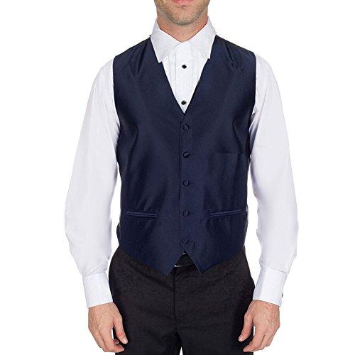 Buy Your Ties S-3-VST-C-L-1 - Mens Solid Satin Tuxedo Vest Navy (Rat Vest)