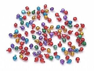 100 Jewel Colour 6mm Mini Jingle Bells | Craft Bells Crafty Capers